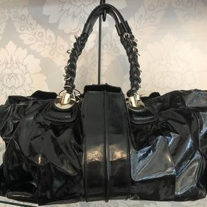 CHLOE Black Patent Large Shoulder/Tote Bag